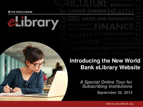 world bank site introducing the new world bank elibrary website