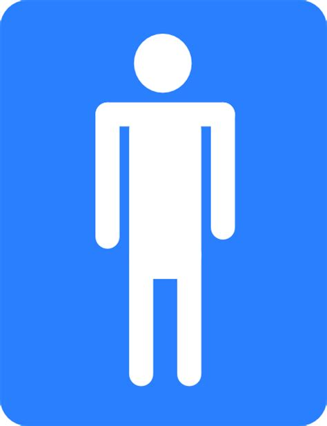 simbolo bagno uomini bathroom blue sign clip at clker vector clip