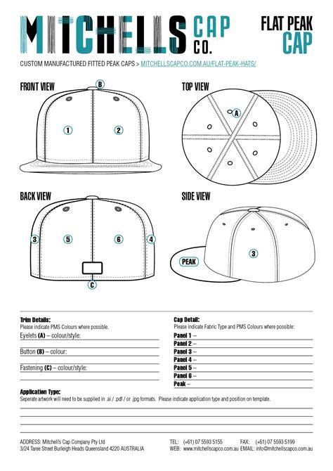 flat peak cap template mitchell s cap co