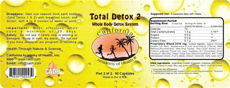 Total Detox Friend Formula by Total Detox 2 Bottle Set New Formula