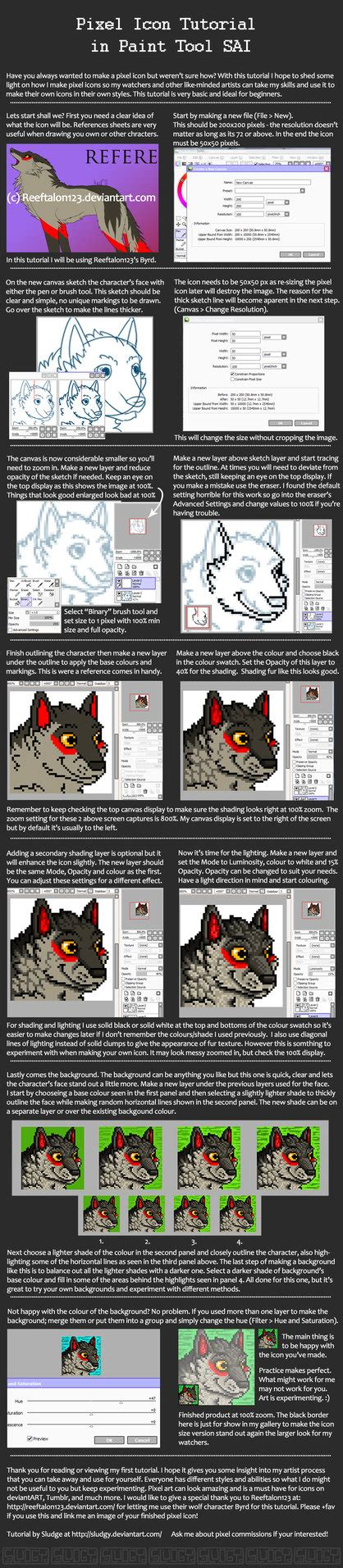 paint tool sai pixel tutorial pixel icon tutorial in paint tool sai by sludgy on deviantart