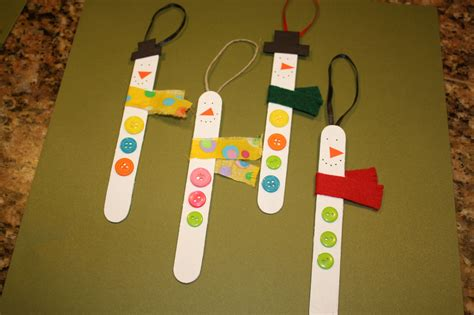 craft with popsicle sticks easy craft popsicle stick snowman ornaments how to