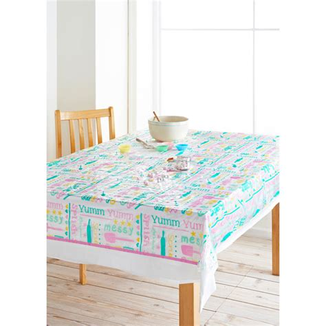 kids wipe clean tablecloth yumm text home kitchen bm
