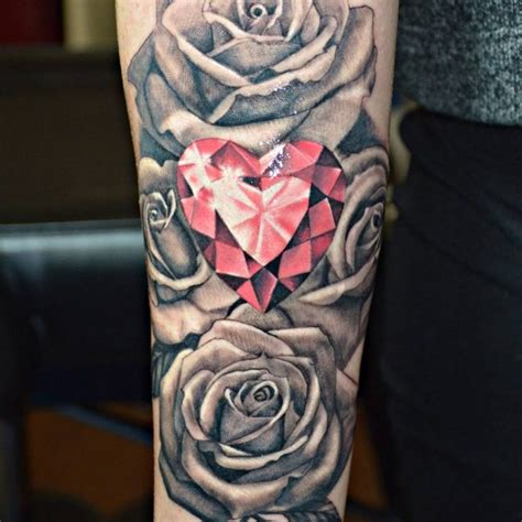 rose with diamond tattoo 75 best designs meanings treasure for
