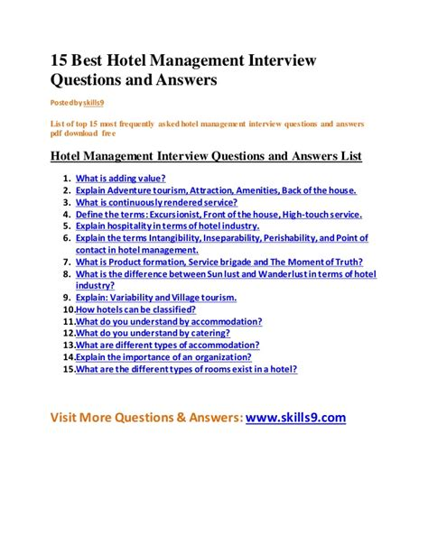 hotel concierge interview questions hiring workable