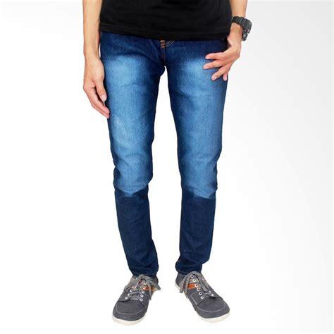 Promo Celana Denim Pria Panjang Stretch Biru Cln 1080 Terlaris gudang fashion denim stretch biru dongker celana panjang