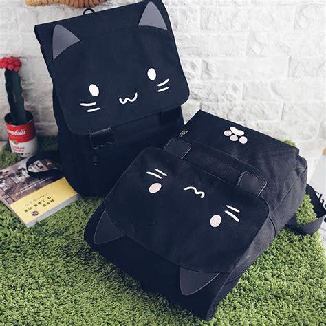 Tas Ransel Wanita Tas Backpack tas ransel wanita model cat black white jakartanotebook