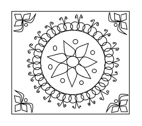 pongal rangoli coloring pages printable coloring pages