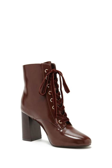 forever 21 ankle boots lyst forever 21 lace up ankle boots in brown