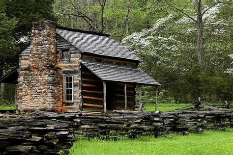 Oliver Cabin by Oliver S Cabin Among The Dogwood Of The Great Smoky