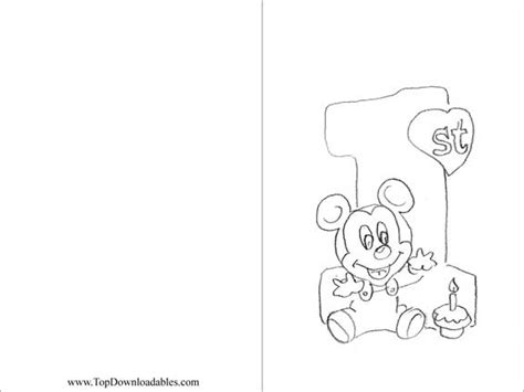 brithday card coloring page template 12 best images of mickey mouse math worksheets mickey