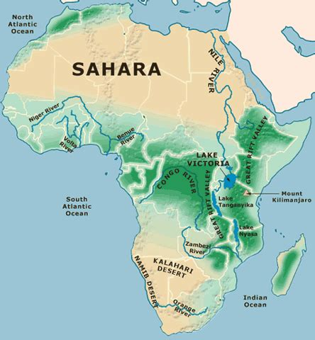 physical features of africa south of the sahara sbms 6th
