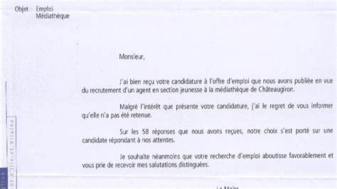 Exemple De Lettre De Réponse Négative à Une Demande D Emploi Modele Lettre Reponse Negative Demande D Emploi Employment Application