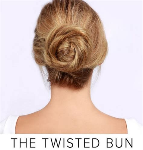 easy hairstyles you can do in 5 minutes twisted bun easy hairstyles you can do in 5 minutes
