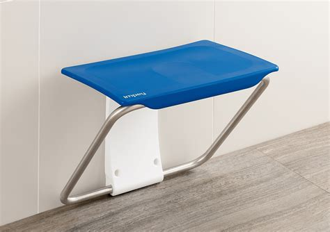 blue bench shower bench by slimfold only 163 169 99 from practical bathing