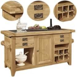 Kitchen Islands Ebay by Lyon Solid Oak Furniture Large Granite Top Kitchen Island Unit
