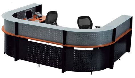 U Shaped 2 Person Glass Top Reception Desk 2 Person Reception Desk
