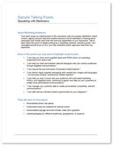 Talking Paper Template by Talking Points Template Talking Paper Cold Email