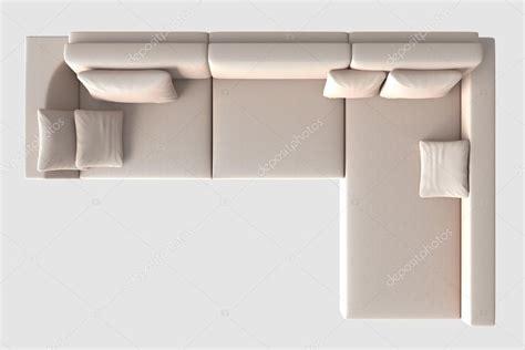 sofa draufsicht rendre la vue de dessus de canap 233 isol 233 e on white