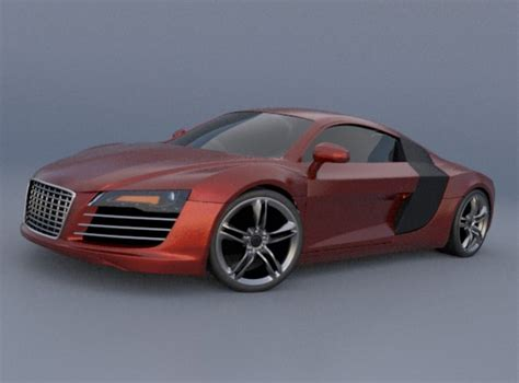 Audi Sports Models by Audi R8 Sports Car 3d Model Obj 3ds Fbx Lwo Lw Lws