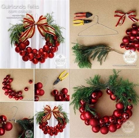 diy christmas ornaments wreath usefuldiy com