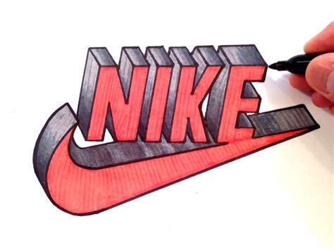 imagenes nike en 3d how to draw nike logo in 3d best on youtube youtube