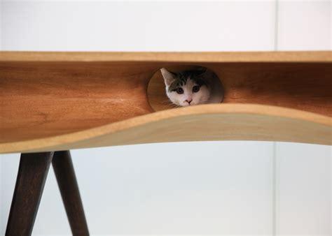 cat table catable is a purr fect combination of desk cat hangout
