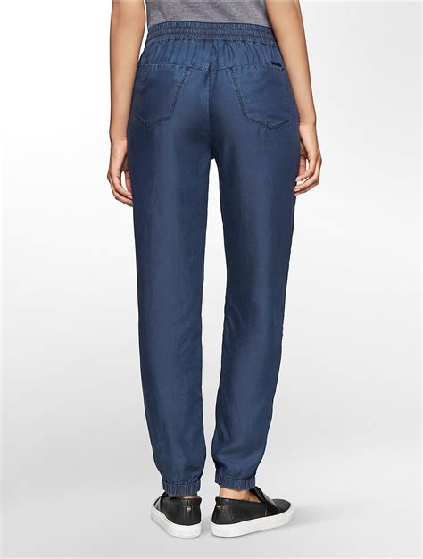 Jogger Soft Blue lyst calvin klein tencel soft jogger in blue