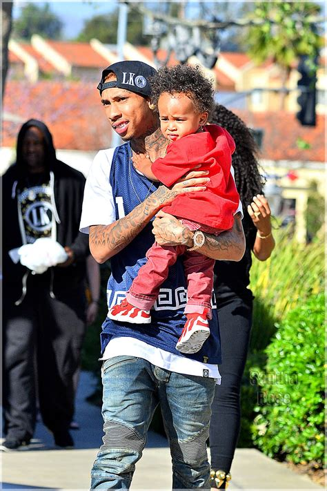 Rapper Tyga And Blac Chyna Spotted Out With Their Son King