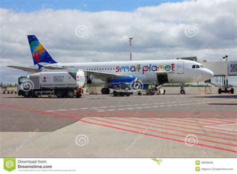 who flies to vilnius preparation of aircraft to fly editorial photo image
