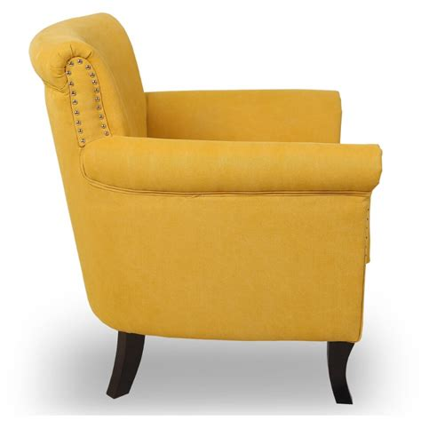 Furniture Armchairs by Armchairs Shankar Hayden Yellow Armchair Fabric Armchair