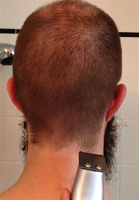 how to cut the neck hairline final frontier of frugality my husband gave me a haircut