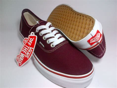 Sepatu Vans Original California vans authentic maroon shoes shop id