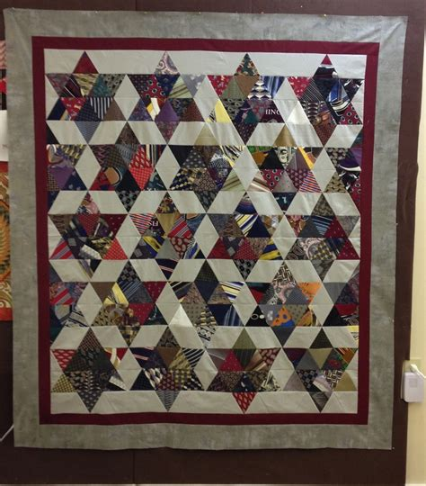 Quilt Made Of Ties by Neck Tie Quilt Made By Cotton Treasures Quilts