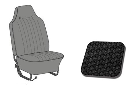 integrated headrest seat covers seats covers tmi 1968 1969 black headrest integrated