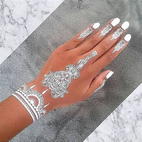 henna inspired temporary tattoo 30 stunning white henna inspired tattoos that look like