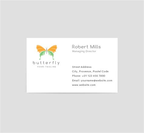 Butterfly Business Card Template by Butterfly Logo Business Card Template The Design