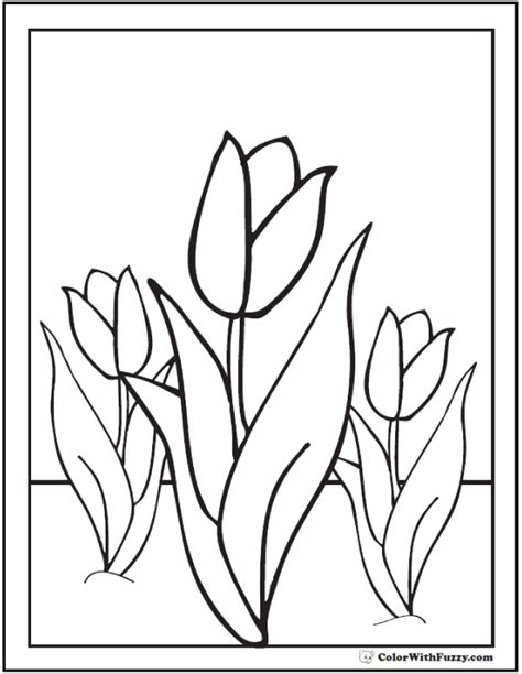 coloring pictures of tulip flowers tulip flower coloring pages 14 pdf printables