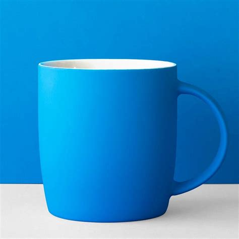 A Blue neon mug blue