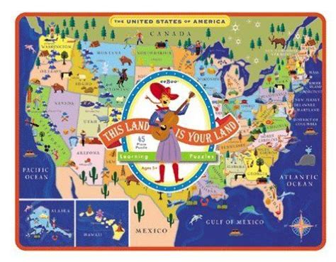 usa map puzzle your child learns pin by bedner on toys