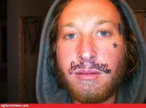 ugliest tattoos your whole family is fked up rub mint