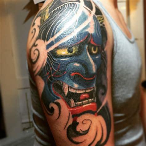 blue hannya mask tattoo blue hannya mask tattoo by ultimateoshima on deviantart