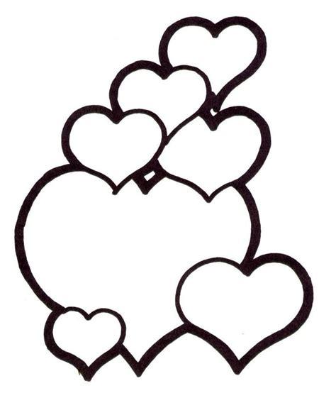 imagenes de corazones decepcionados 74 corazones de amor para pintar imprimir descargar y