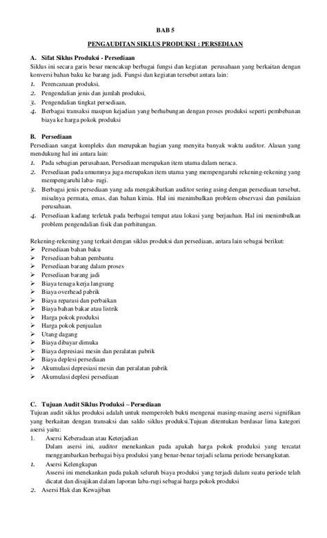 skripsi akuntansi harga pokok produksi makalah auditing ii pengauditan siklus produksi persediaan