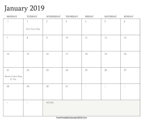printable monthly calendar with holidays free printable calendar 2019 with holidays in word excel pdf