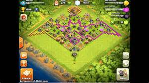Clash of clans th8 bat base design cool base youtube