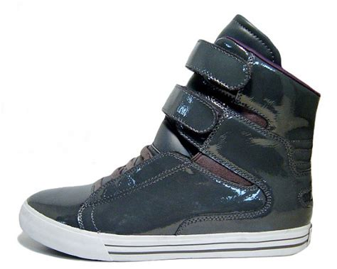 supra tk society c supra tk society red leather and grey patent leather