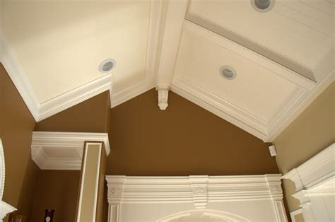 ceiling fan crown molding crown molding on cathedral ceilings photos www