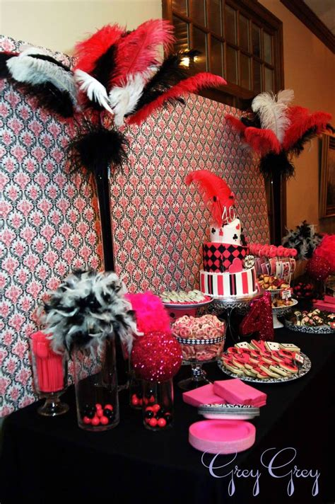 casino themed table decorations feather bouquets ideas feather