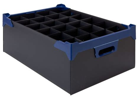 barware storage glassware storage box 24 compartment 200mm high joynsons